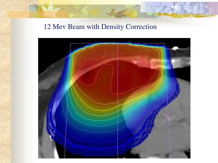 12 Mev Beam with Density Correction