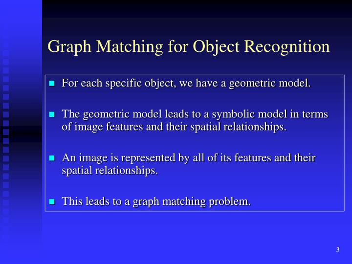 Graph Matching for Object Recognition