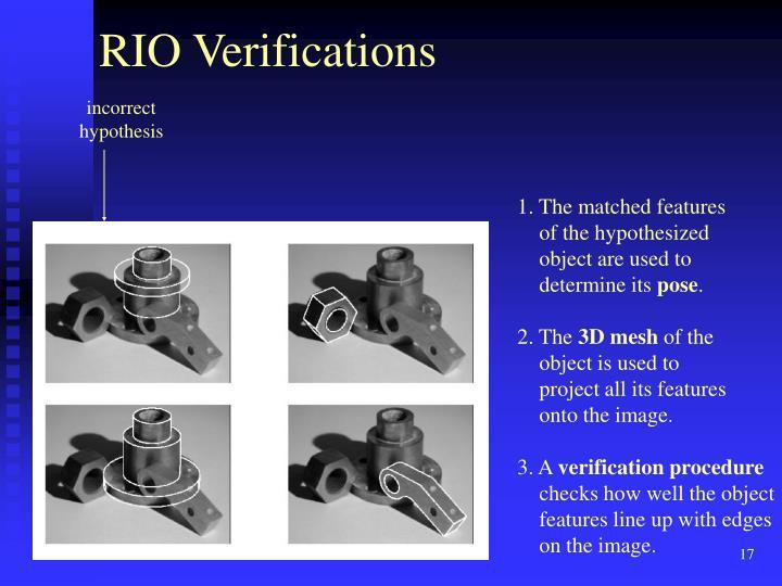 RIO Verifications