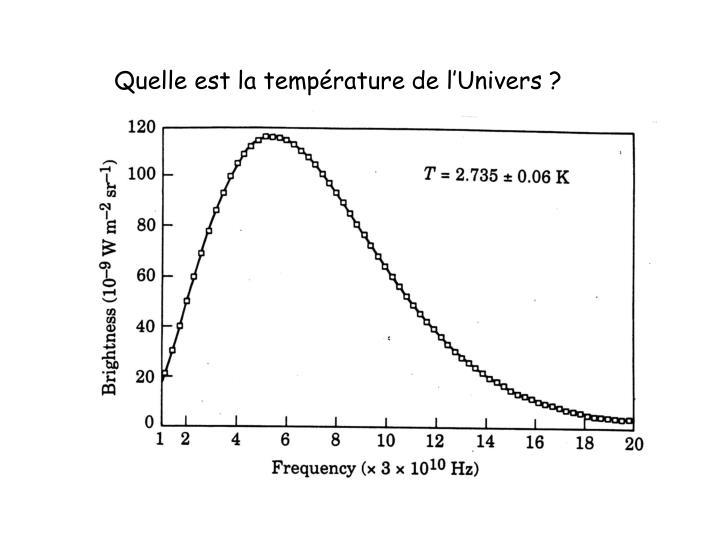 Quelle est la température de l'Univers ?