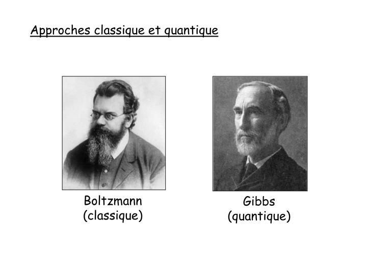 Approches classique et quantique