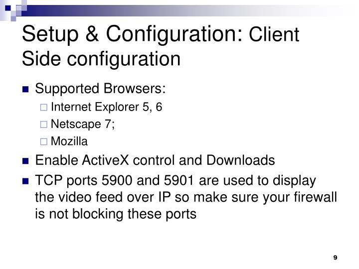 Setup & Configuration: