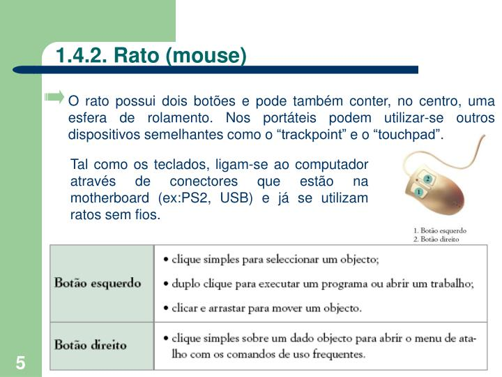 1.4.2. Rato (mouse)