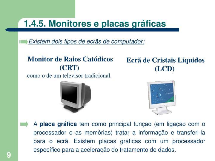 1.4.5. Monitores e placas gráficas