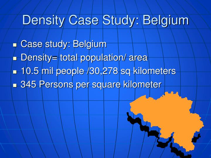 Density Case Study: Belgium
