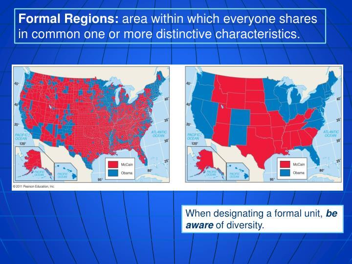 Formal Regions: