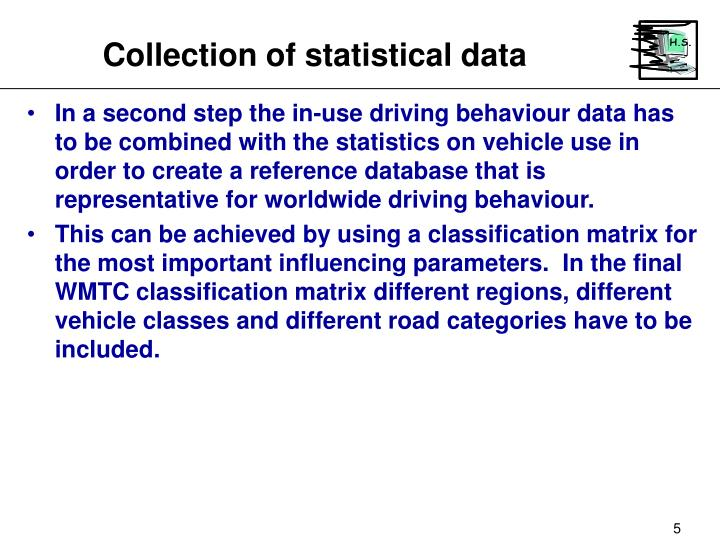 Collection of statistical data