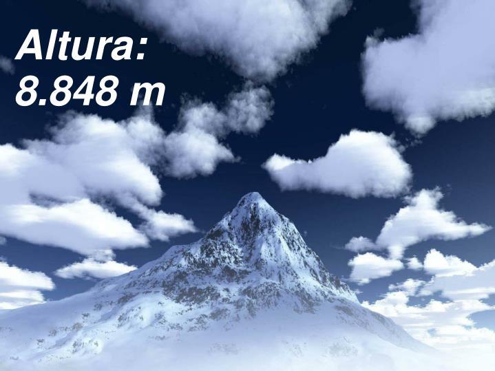 Altura: 8.848 m