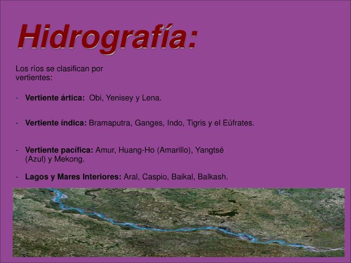Hidrografía: