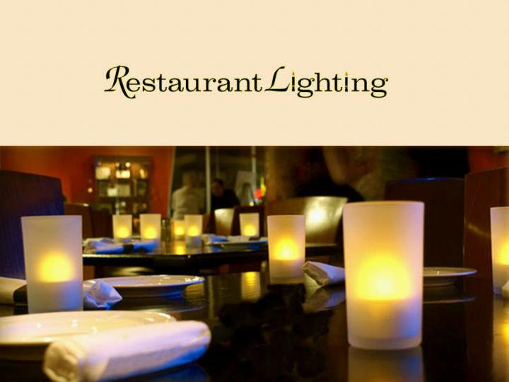 Restaurant lighting rechargeable tea lights