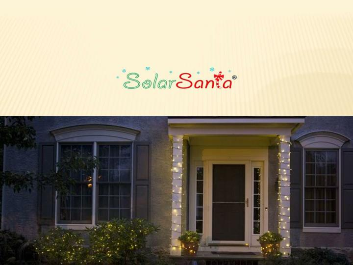 Solar santa outdoor solar christmas lights