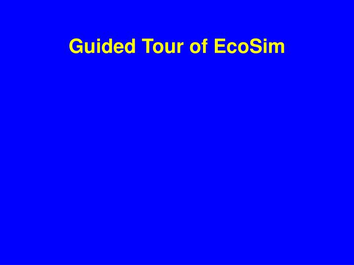 Guided Tour of EcoSim