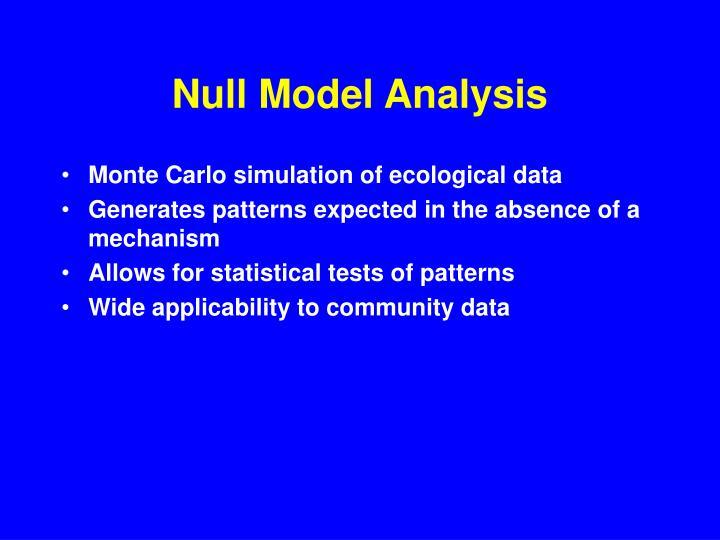 Null Model Analysis