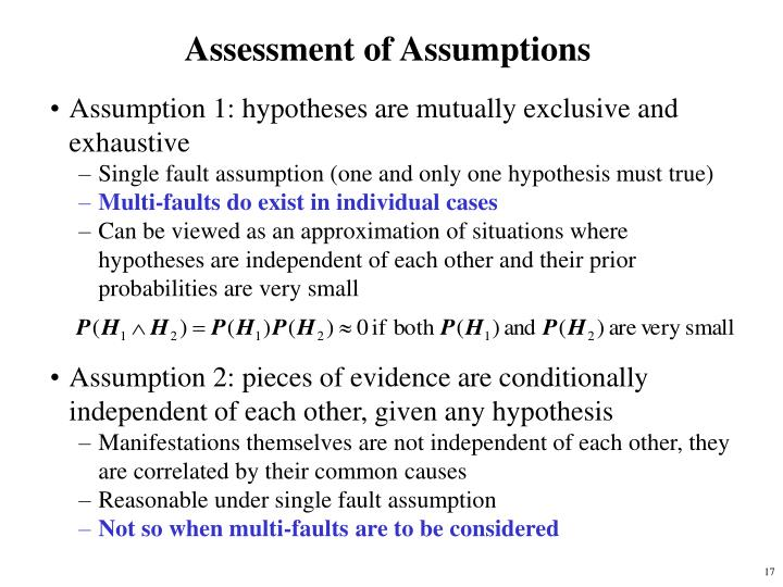 Assessment of Assumptions