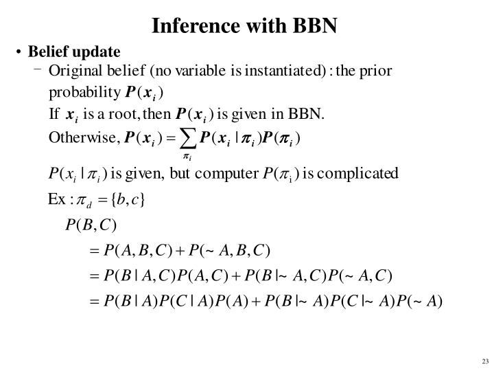 Inference with BBN