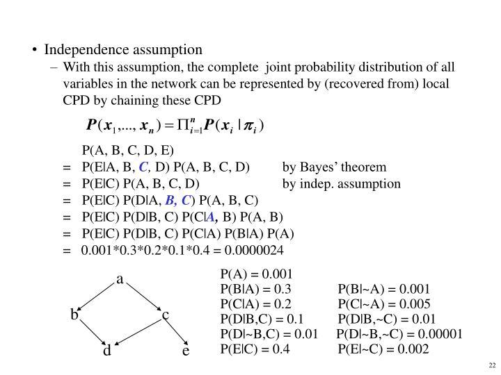 P(A) = 0.001
