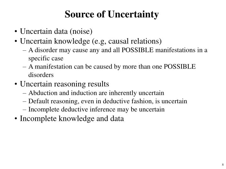 Source of Uncertainty
