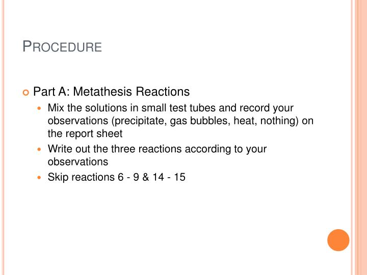 reactions in aqueous solutions metathesis reactions and net ionic equations Chapter 4 reactions in aqueous solution  aqueous reactions writing net ionic equations 1 write a balanced molecular equation 2 dissociate all strong electrolytes 3 cross out anything that remains  aqueous reactions • some metathesis reactions do not give the product expected.