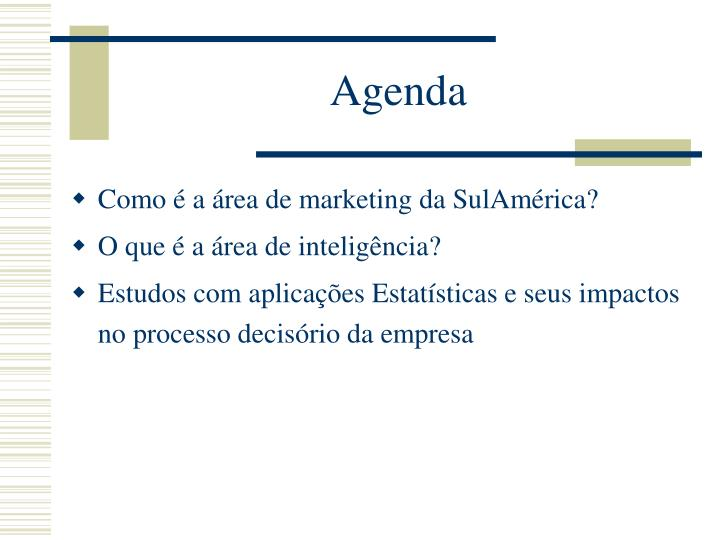 Como é a área de marketing da SulAmérica?
