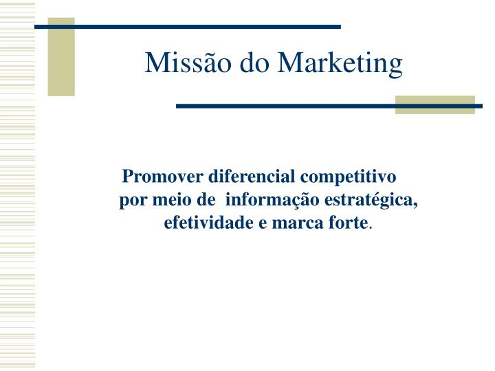 Missão do Marketing