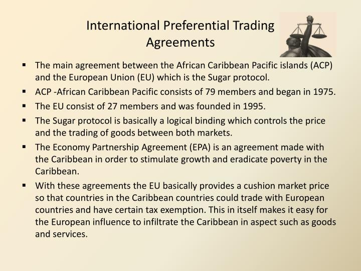 Preferential trading agreements