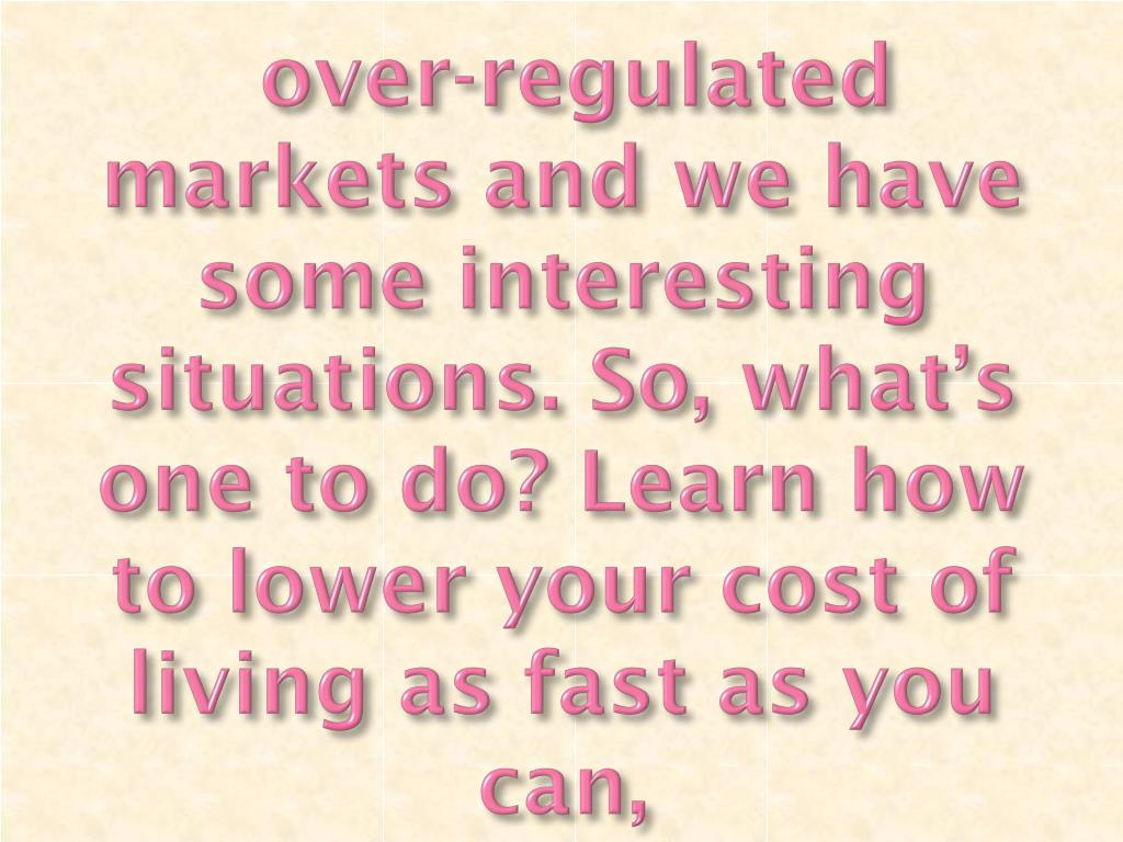 over-regulated