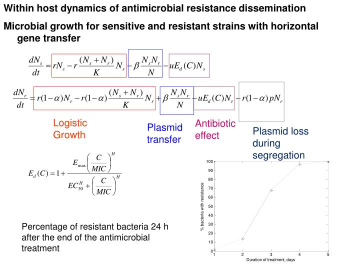 Within host dynamics of antimicrobial resistance