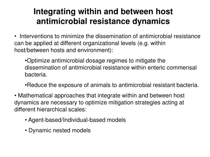 Integrating within and between host antimicrobial resistance dynamics