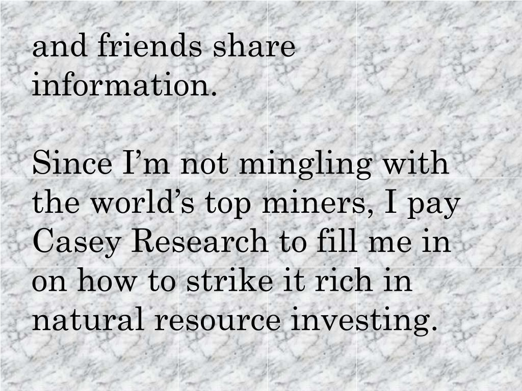 and friends share information.