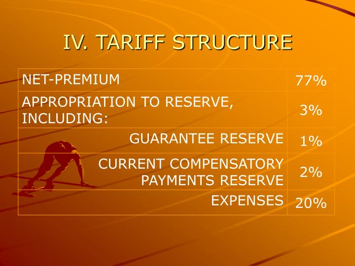 IV. TARIFF STRUCTURE