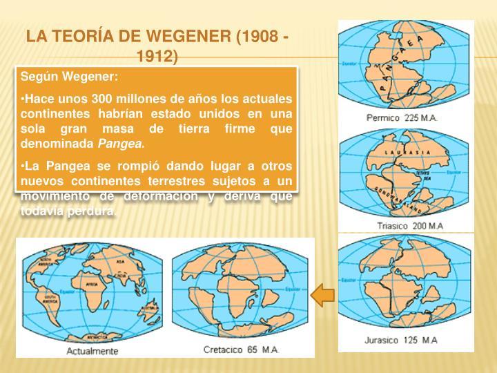 LA TEORÍA DE WEGENER (