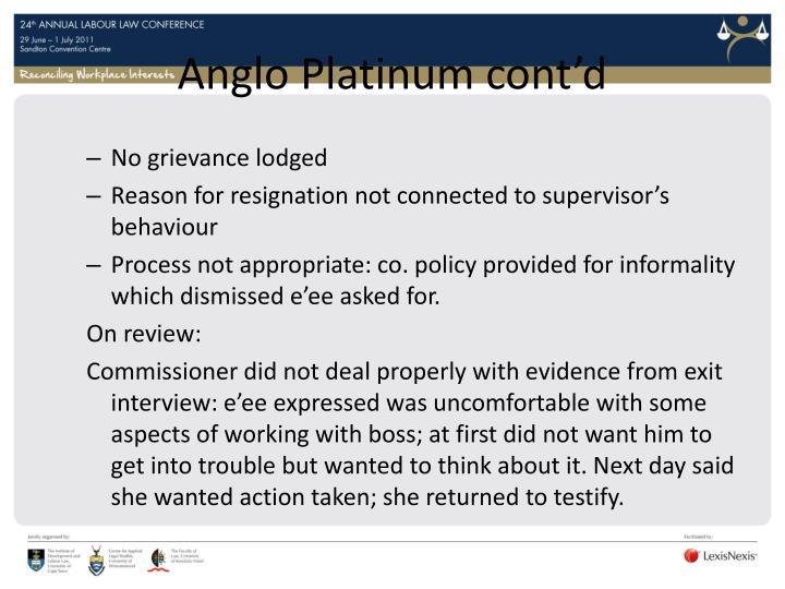 Anglo Platinum cont'd