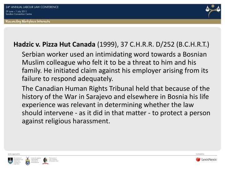 Hadzic v. Pizza Hut Canada