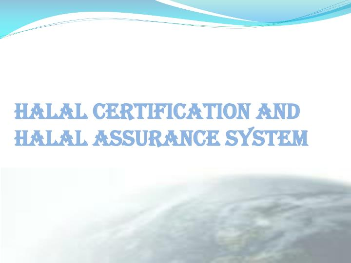 HALAL CERTIFICATION AND