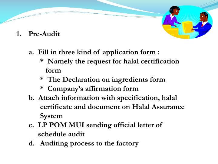 Pre-Audit