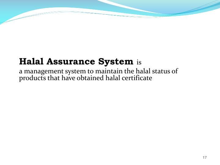Halal Assurance System