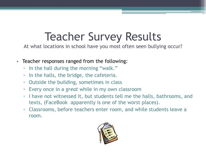 Teacher Survey Results