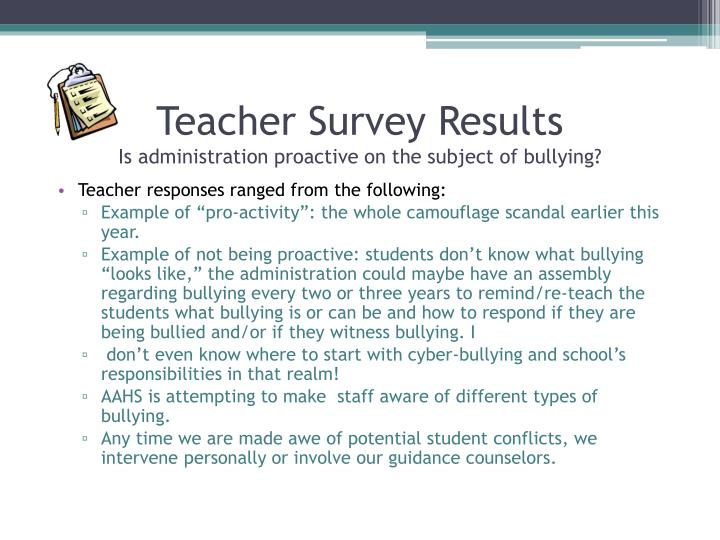 Teacher responses ranged from the following: