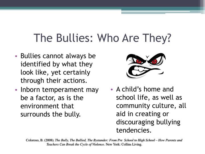 The Bullies: Who Are They?
