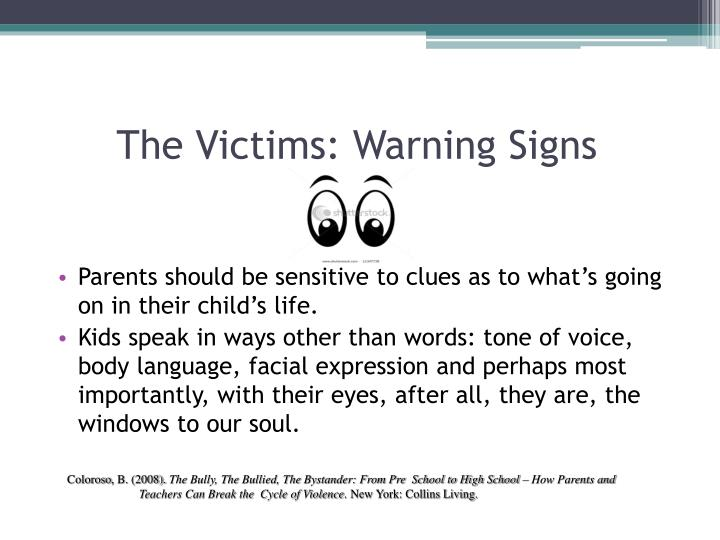 The Victims: Warning Signs