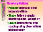 planetary motions1