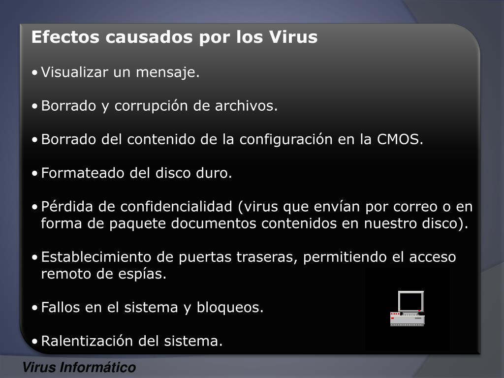 Efectos causados por los Virus