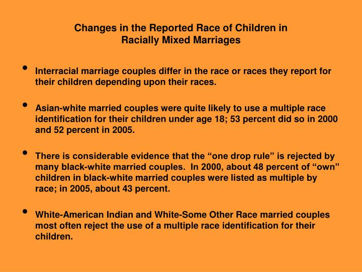 Changes in the Reported Race of Children in