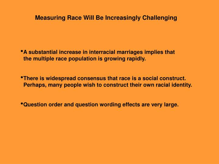 Measuring Race Will Be Increasingly Challenging