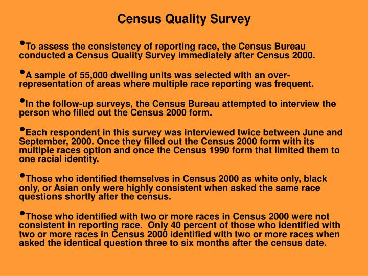 Census Quality Survey