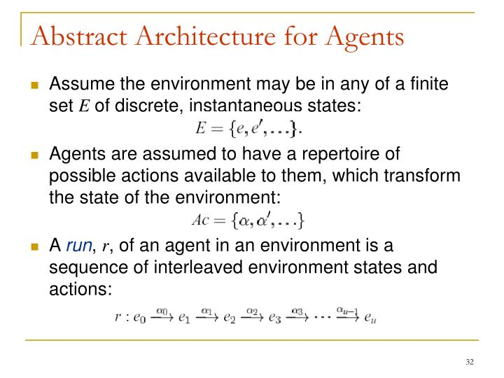 Abstract Architecture for Agents