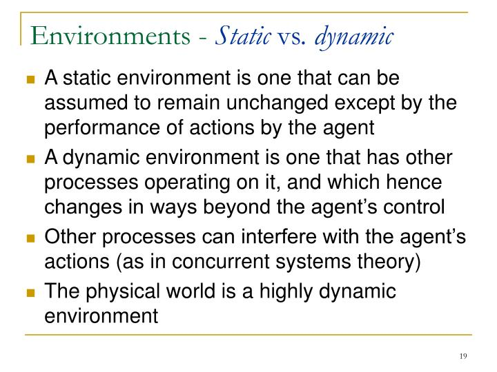 Environments -
