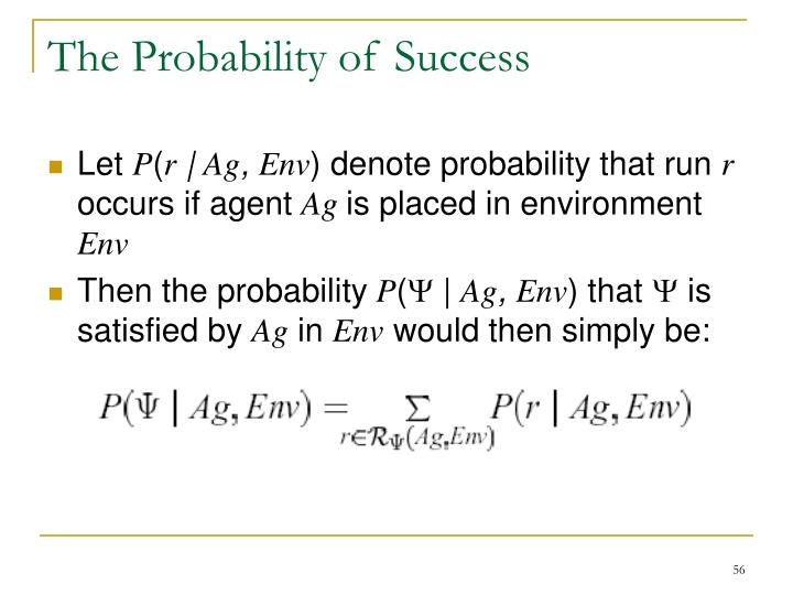 The Probability of Success