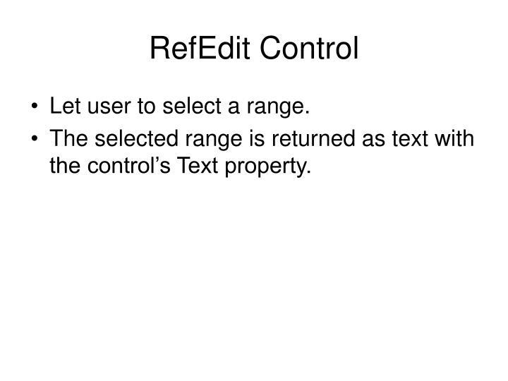 RefEdit Control