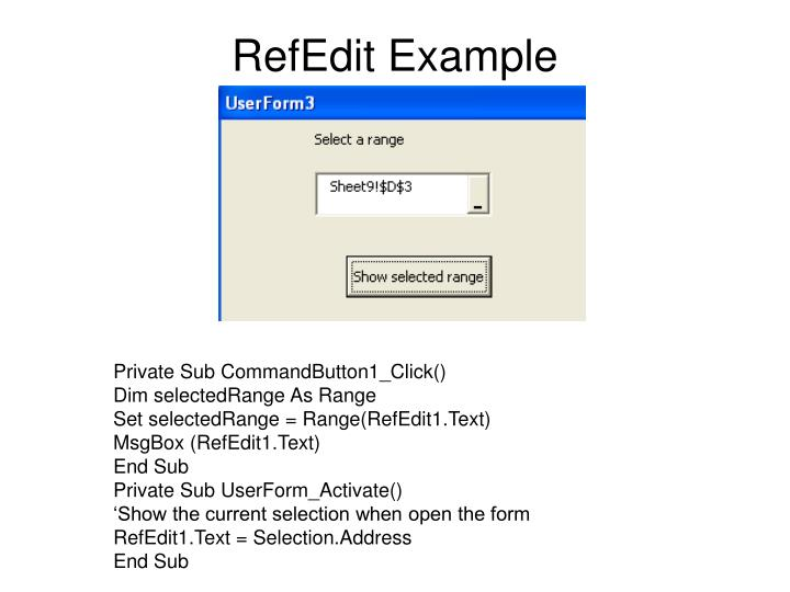 RefEdit Example